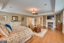 Master Bedroom with gas fireplace - 5623 JOHNSON AVE, BETHESDA