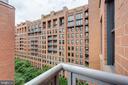 View toward courtyard from balcony - 631 D ST NW #835, WASHINGTON