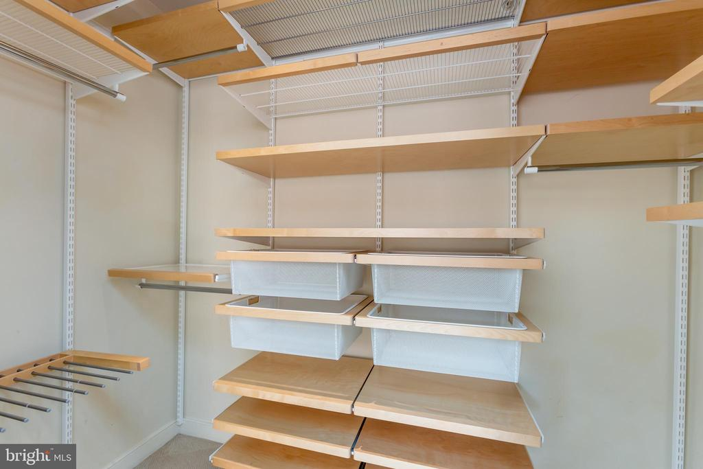 Master closet with Elfa - 631 D ST NW #835, WASHINGTON
