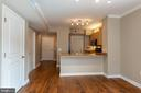 View to Kitchen with breakfast bar, granite - 631 D ST NW #835, WASHINGTON