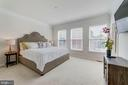 Master Bedroom is Spacious and Light-filled - 3965 OAK ST, FAIRFAX