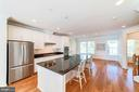 Beautiful Gourmet Kitchen with 5 burner stove - 3965 OAK ST, FAIRFAX