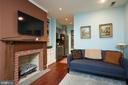 Lower Level Apartment Living Room - 1844 13TH ST NW, WASHINGTON