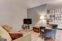 Living room with view towards kitchen - 4114 DAVIS PL NW #4, WASHINGTON