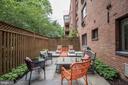 Approximately 551 square foot patio/deck - 4114 DAVIS PL NW #4, WASHINGTON