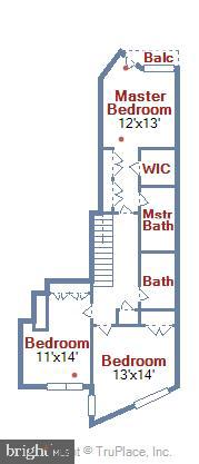 Lower Level Floor Plan - 631 D ST NW #639, WASHINGTON