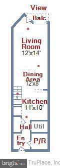 Upper Level Floor Plan - 631 D ST NW #639, WASHINGTON
