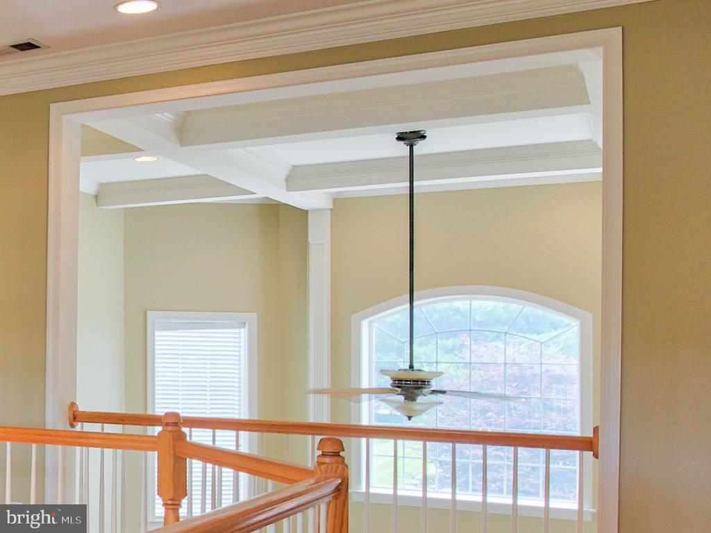 Coffered ceiling in the family room - 6853 MILL VALLEY DR, WARRENTON