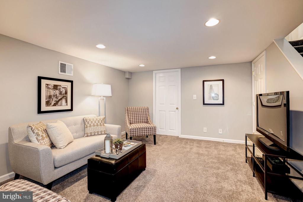 Fully Finished Lower Level w/ On-Trend Gray Carpet - 4636 36TH ST S #A, ARLINGTON