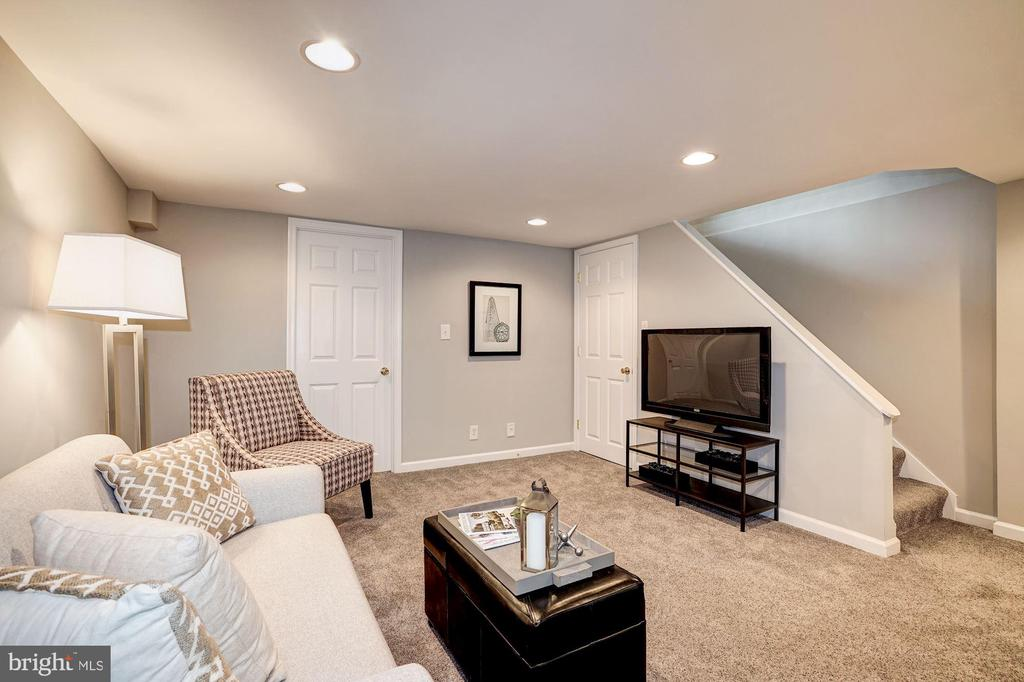 Family Room / Rec Room - Recessed Lighting - 4636 36TH ST S #A, ARLINGTON