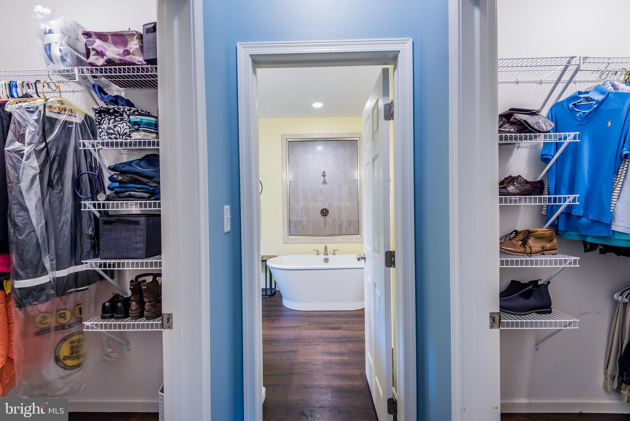 Two Walk in Closets in Master Suite!