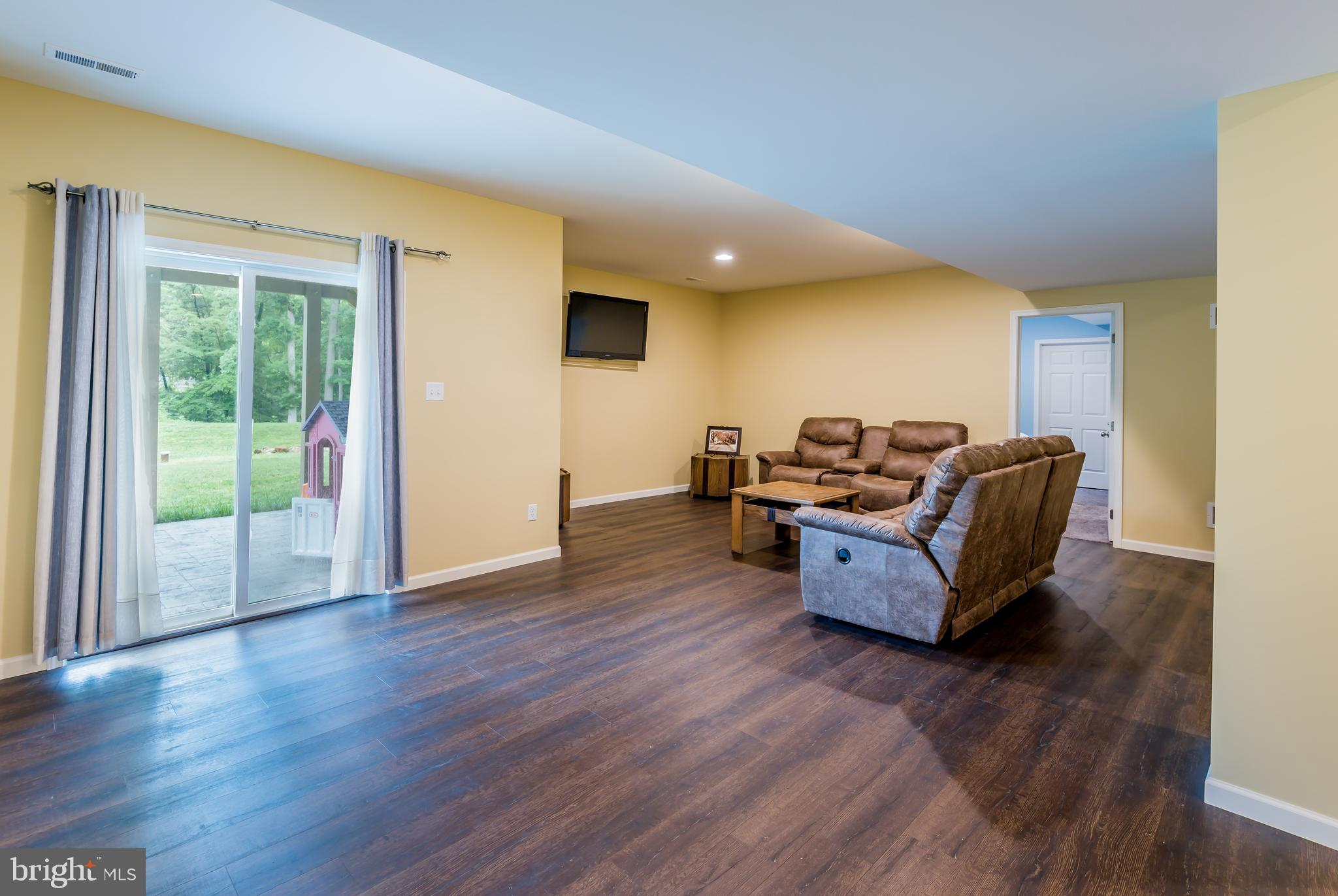 Lower Level Living Room with exterior patio access