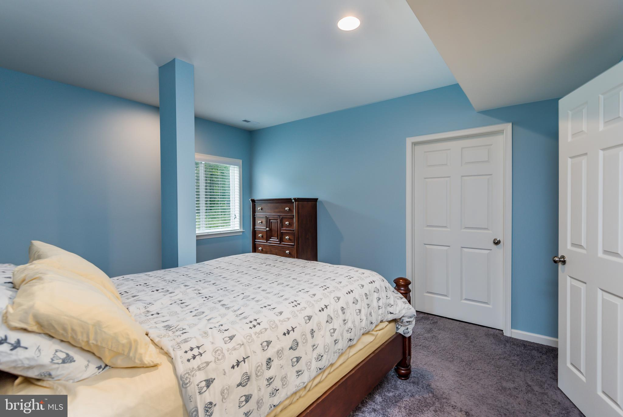 Bedroom in lower level with Walk In Closet!