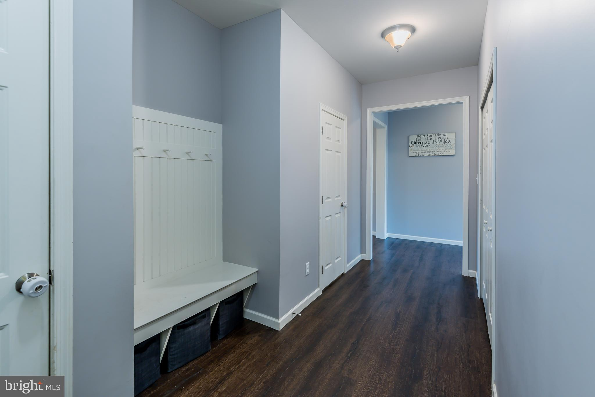 Drop zone by garage entrance and laundry room!