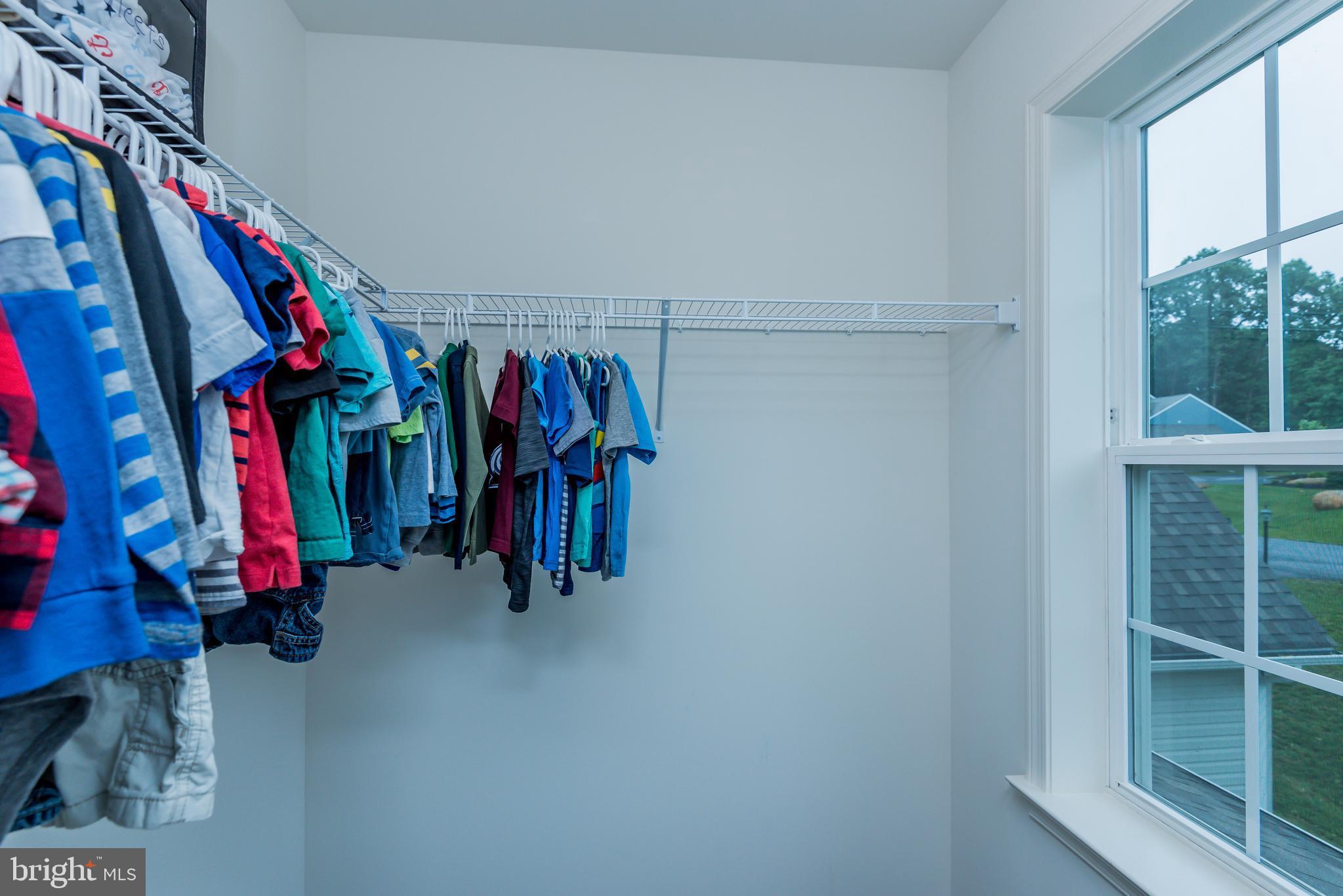 Each room has a walk in closet!