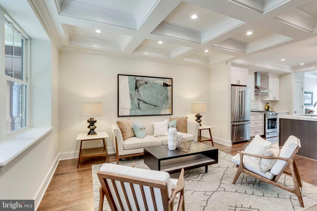 Coiffured ceilings with recessed LED lighting - 2614 10TH ST NE, WASHINGTON