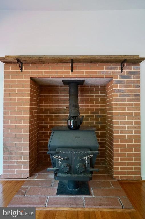 Wood Stove in Family Room - 3207 AQUIA DR, STAFFORD
