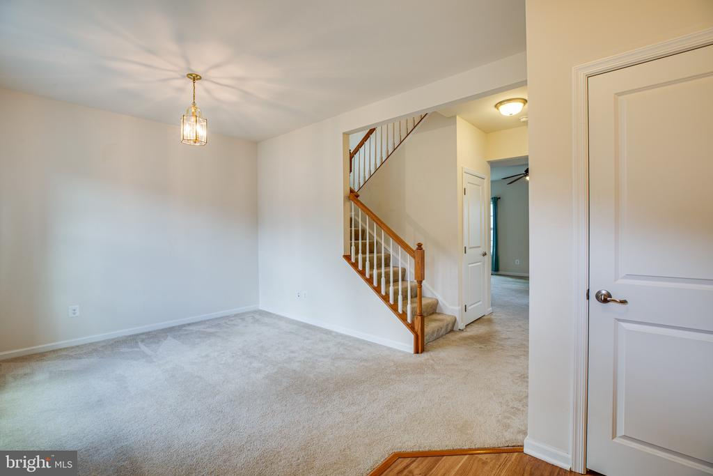 headed upstairs from formal area - 7 FIREHAWK DR, STAFFORD