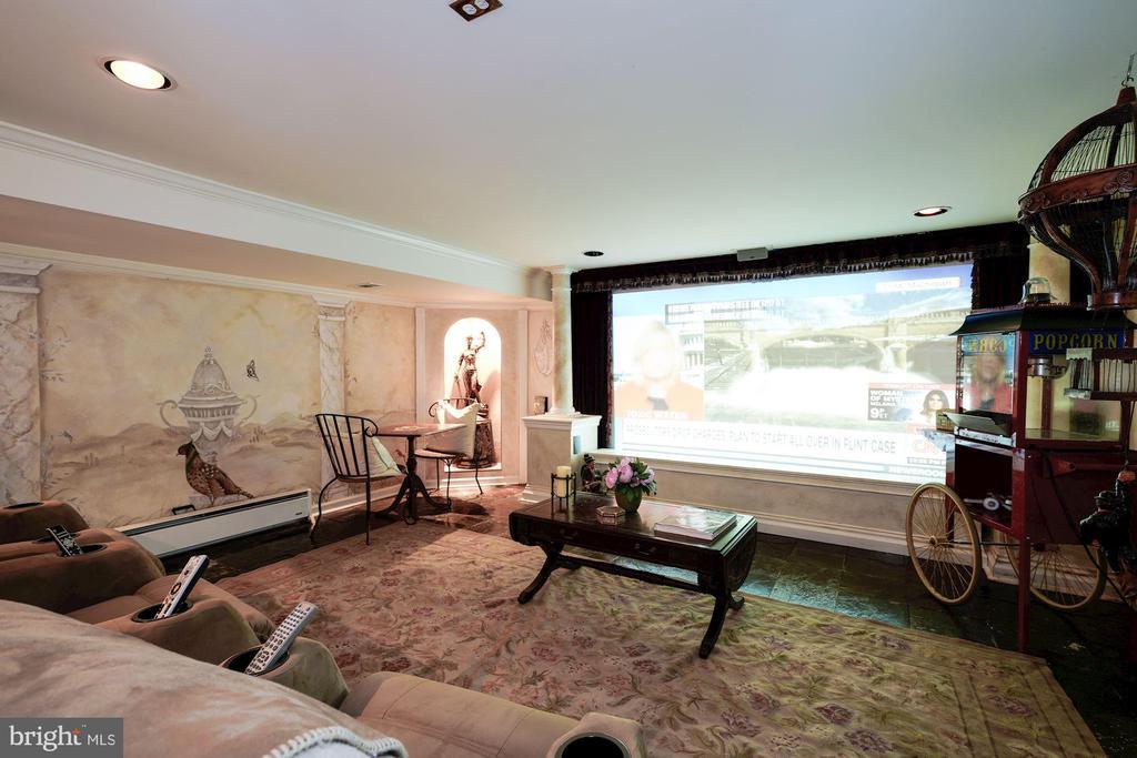 Theater Room, Projector & Screen - 4309 SUNDOWN RD, GAITHERSBURG