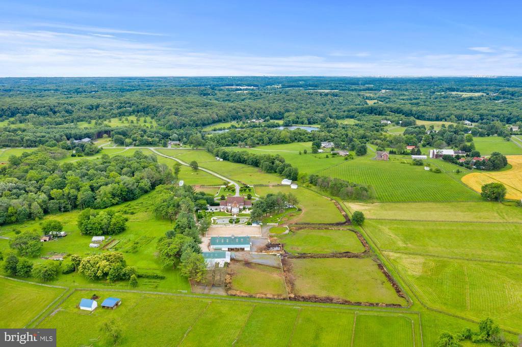 Aerial View Over Barns & Main House - 4309 SUNDOWN RD, GAITHERSBURG