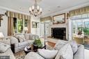 Family Room & Fireplace - 4309 SUNDOWN RD, GAITHERSBURG