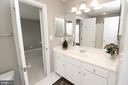 Jack & Jill Bathroom - 25189 BLACKSTONE CT, CHANTILLY