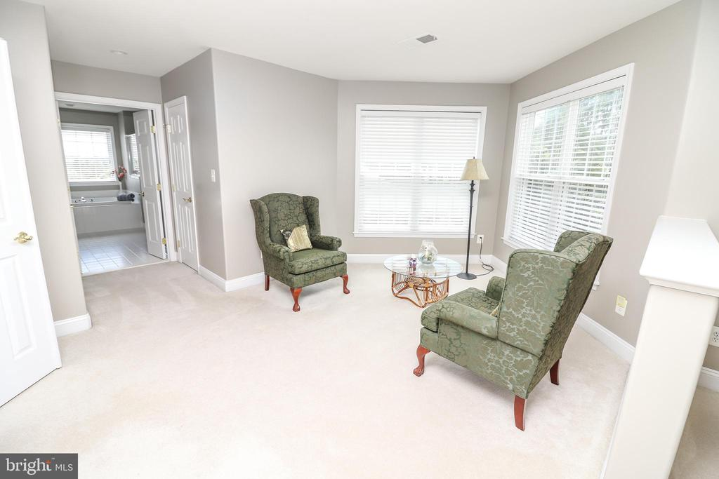 Master Sitting Are with Dual Walk in Closets - 25189 BLACKSTONE CT, CHANTILLY