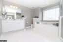 Master Bathroom Dual Vanity & Soaking Tub - 25189 BLACKSTONE CT, CHANTILLY