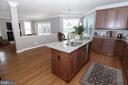 Kitchen Island Open to Family Room - 25189 BLACKSTONE CT, CHANTILLY