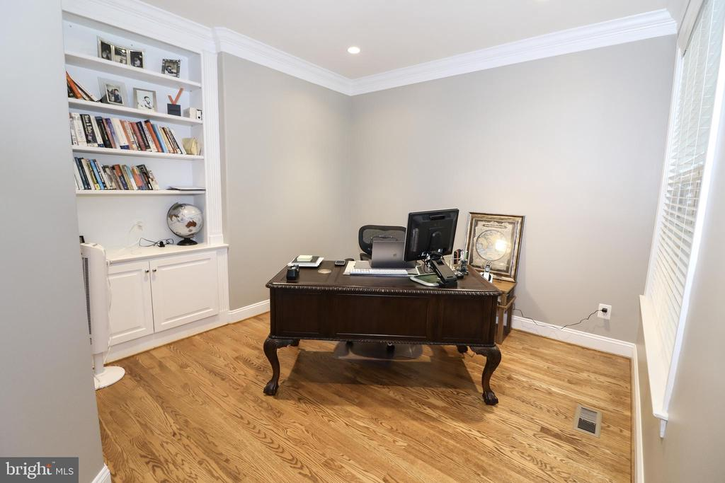Office with French Doors & Built in Bookcase - 25189 BLACKSTONE CT, CHANTILLY