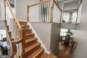 Public & Private Staircase Access to Upper Level - 25189 BLACKSTONE CT, CHANTILLY