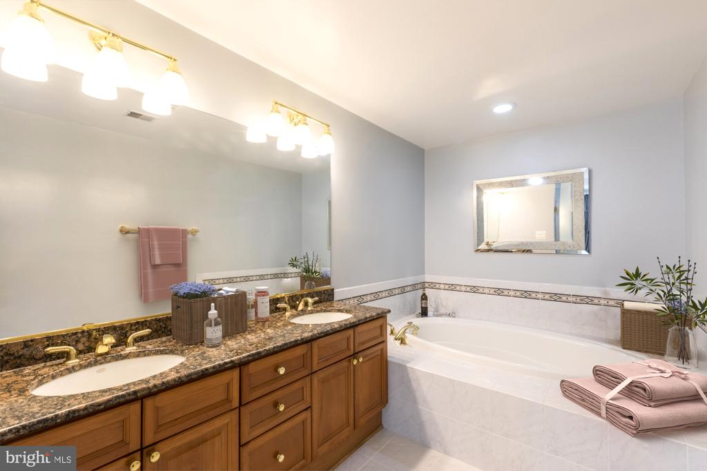 Luxurious master bath - 1555 N COLONIAL TER #501, ARLINGTON