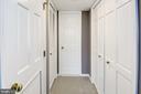 Master bdrm view towards bath, laundry and closets - 801 PENNSYLVANIA AVE NW #1207, WASHINGTON