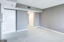 View of master bedroom looking towards bath - 801 PENNSYLVANIA AVE NW #1207, WASHINGTON