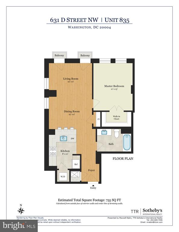 Floor Plan - 631 D ST NW #835, WASHINGTON