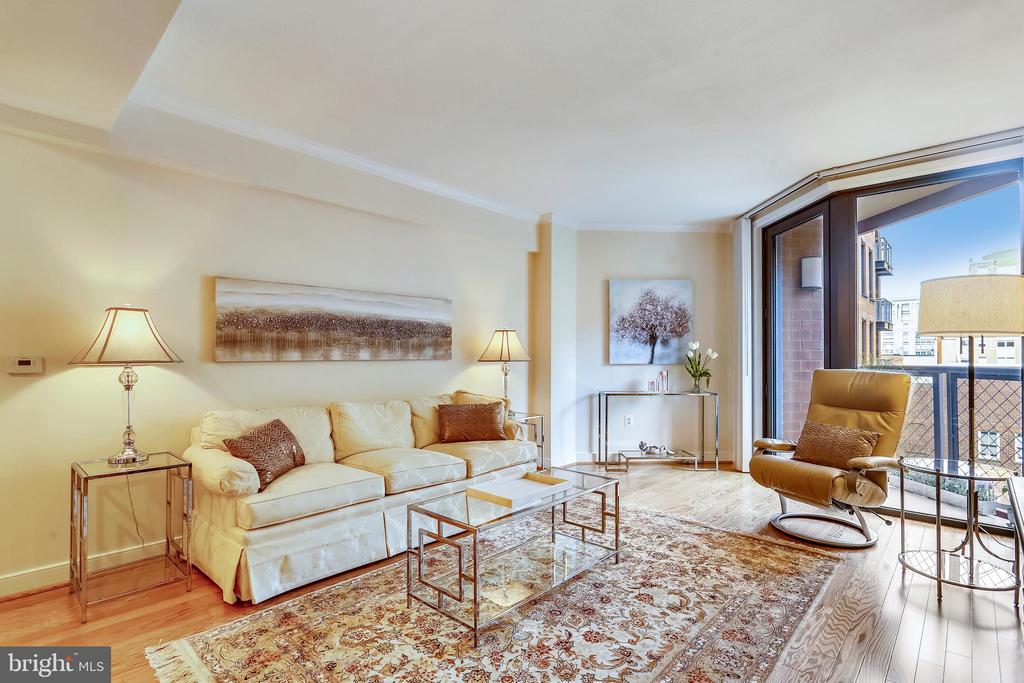 Living Room with Private Balcony - 631 D ST NW #639, WASHINGTON