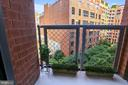 Private Balcony off the Master Suite - 631 D ST NW #639, WASHINGTON