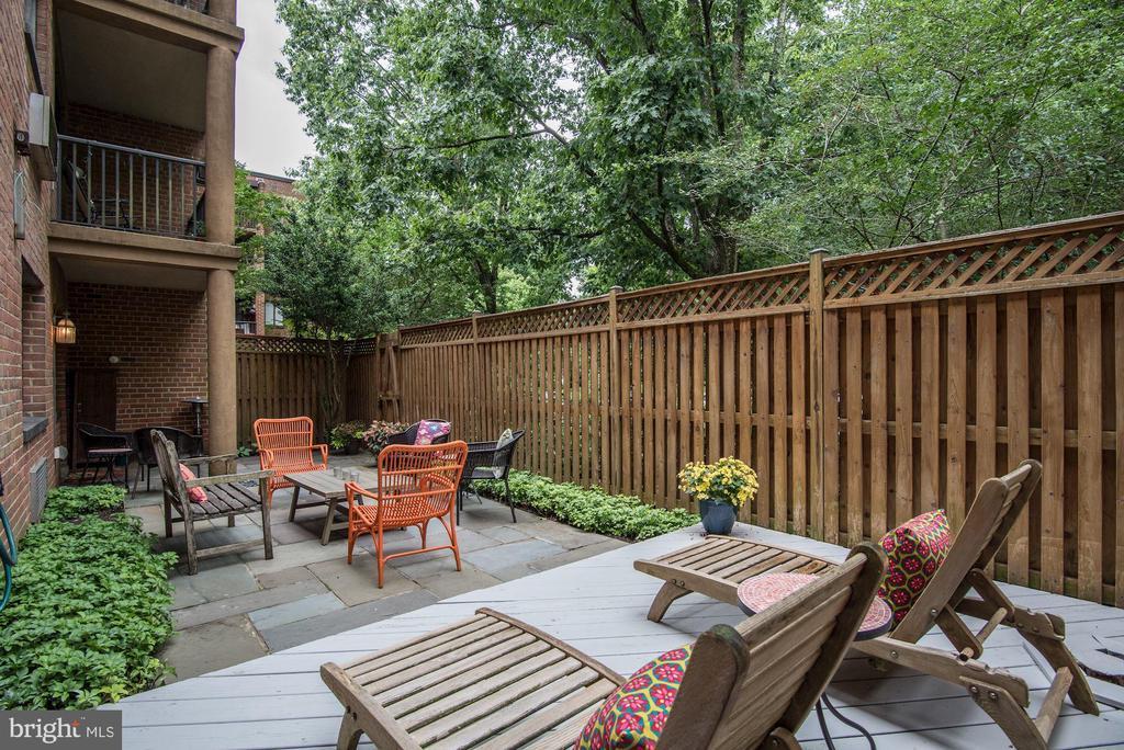 Treed view from patio - 4114 DAVIS PL NW #4, WASHINGTON