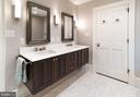 Master Bathroom w Double Floating Vanity - 412 WOLFE ST, ALEXANDRIA