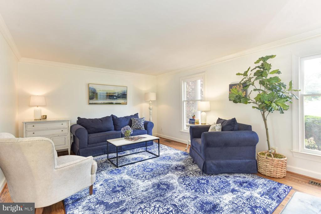 Living room ideal for formal or informal occasions - 1503 RIVER FARM DR, ALEXANDRIA