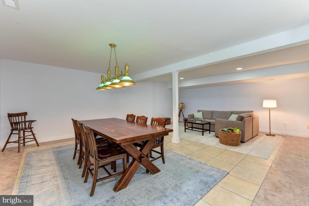 Game room/rec room space on the lower level - 1503 RIVER FARM DR, ALEXANDRIA