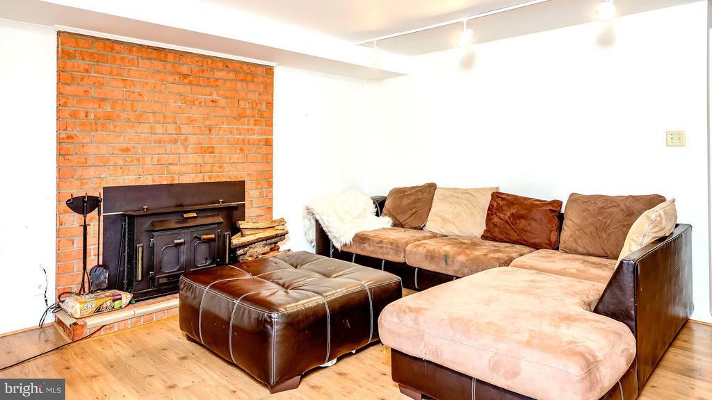 Brick Fireplace - 6815 TILDEN LN, NORTH BETHESDA