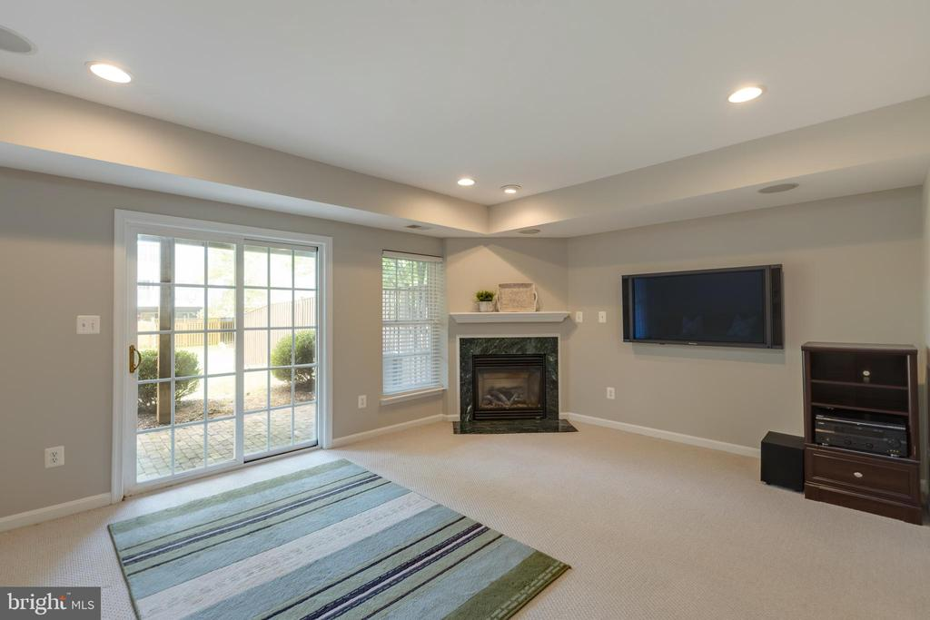 Great lower level rec room with cozy gas fireplace - 24612 NETTLE MILL SQ, ALDIE