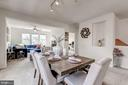 Dining area can accommodate a large table - 24604 BYRNE MEADOW SQ, ALDIE