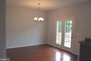 Dining Room with New lighting - 43809 LEES MILL SQ, LEESBURG