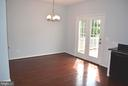 Dining Room open to kitchen and inviting Deck - 43809 LEES MILL SQ, LEESBURG