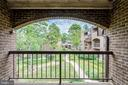 Great Balcony Overlooks Common Area - 11208 CHESTNUT GROVE SQ #212, RESTON