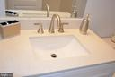 Newly renovated lower bathroom - 43809 LEES MILL SQ, LEESBURG