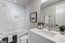 Full bath on main level - 1201 KEARNY ST NE #202, WASHINGTON