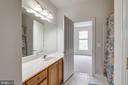 Shared bathroom among two rooms - 43725 COLLETT MILL CT, LEESBURG